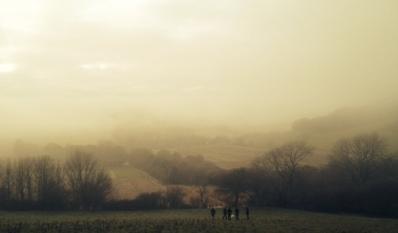 Fog covered hills