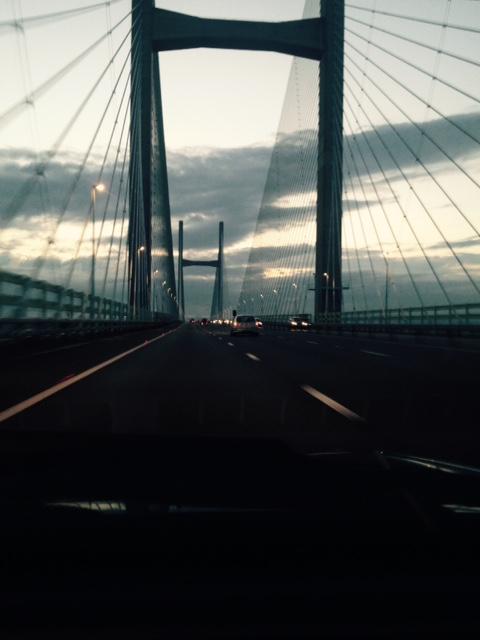 Entering Wales