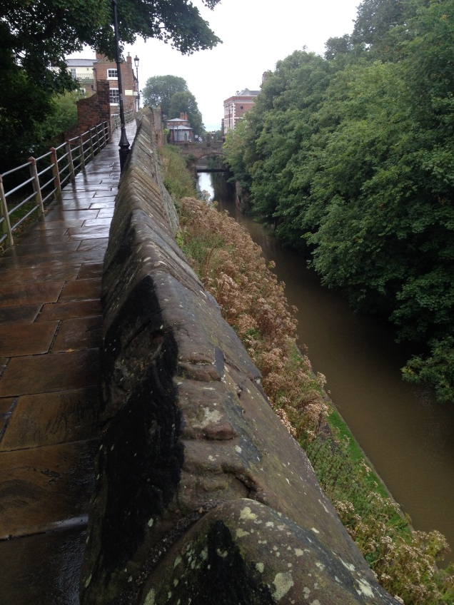 Romantic walls surrounding Chester