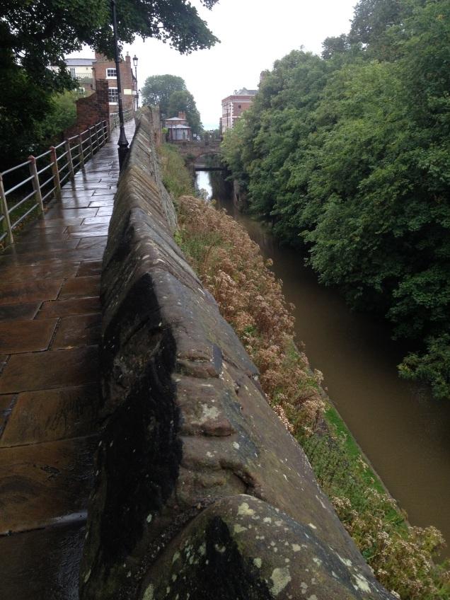 Romantic walls surrounding Chester