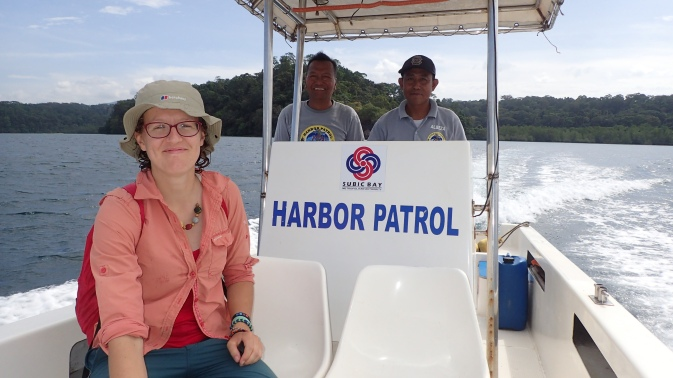 Catching a ride with the harbour patrol