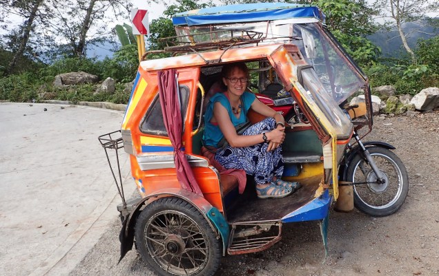 Hair raising tricycle ride in the mountains, Philippines