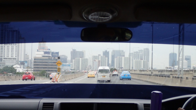 Driving into Bangkok