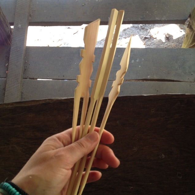 Bamboo carved hair pins